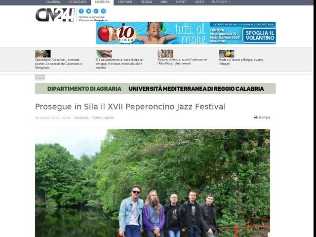 Prosegue in Sila il XVII Peperoncino Jazz Festival