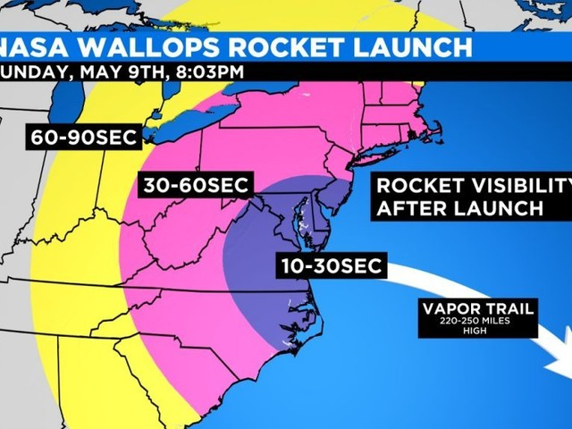 NASA Wallops Rocket Launch Now Scheduled For Sunday Night
