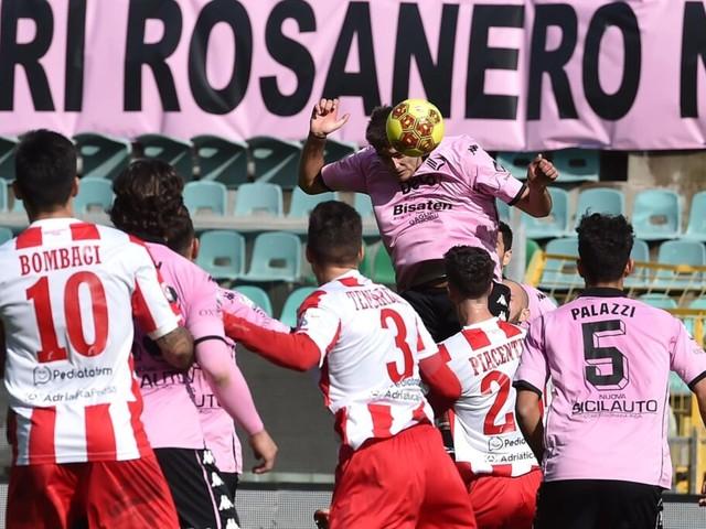 Serie C, il Teramo fa 1-1 a Palermo