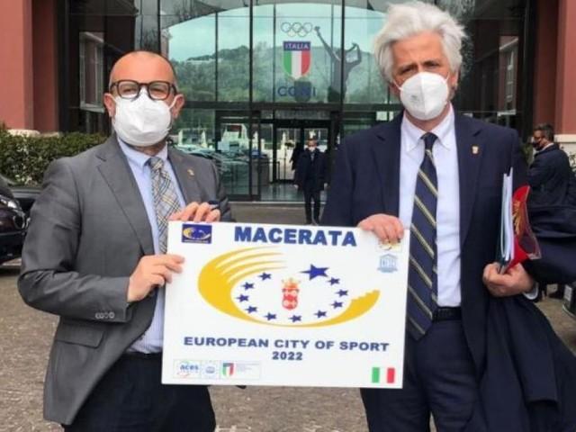 Macerata Città Europea dello Sport 2022: al Salone d'Onore del CONI arriva il riconoscimento