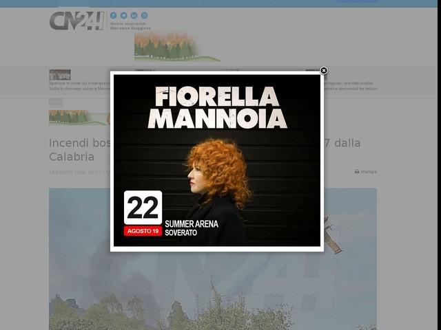 Incendi boschivi: 21 richieste d'intervento aereo, 7 dalla Calabria