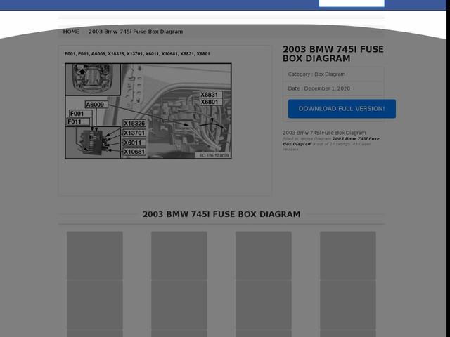 Bmw 745i Fuse Box Diagram