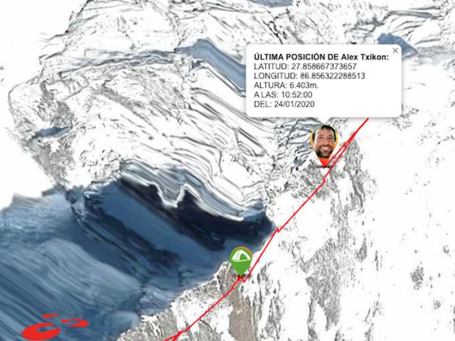 Invernale all'Ama Dablam (6.812 m). Alex Txikon verso Campo 3