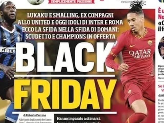 Black Friday, Roma e Milan contro il razzismo: punito il Corriere dello Sport