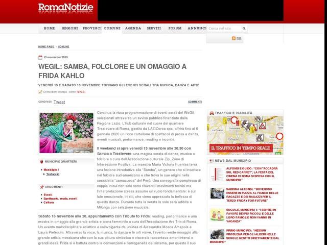 WEGIL: SAMBA, FOLCLORE E UN OMAGGIO A FRIDA KAHLO