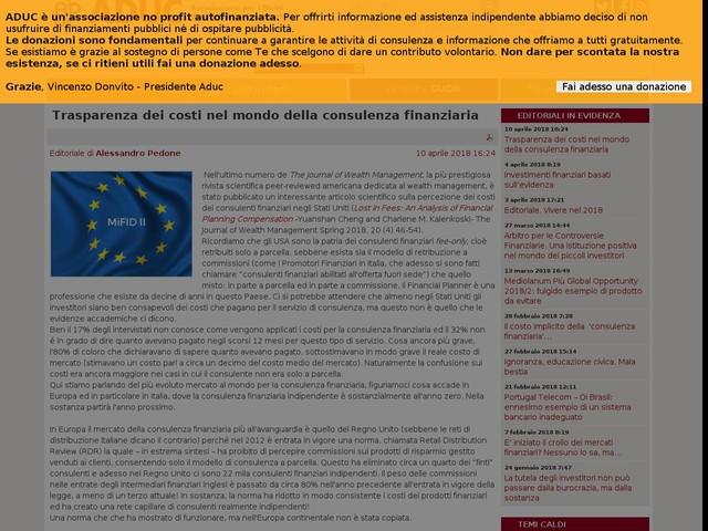 Trasparenza dei costi nel mondo della consulenza finanziaria