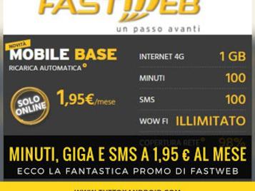 Avere minuti, giga e sms al prezzo più basso grazie a Fastweb: solo 1,95€ al mese