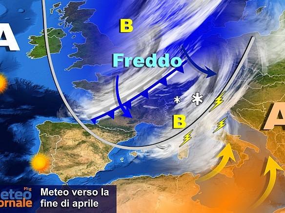 Fine aprile meteo movimentato: rischio maltempo e altro freddo. Ultimissime