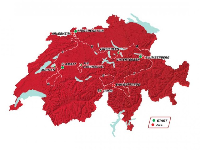 Ciclismo, Giro di Svizzera dal 15 al 23 giugno: tappe in tv su Eurosport