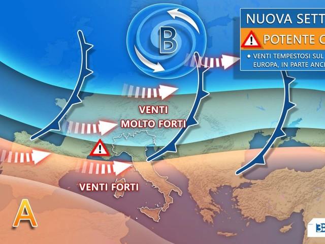 Meteo prossima settimana : TEMPESTA EUROPEA LAMBISCE L'ITALIA, avrà delle conseguenze