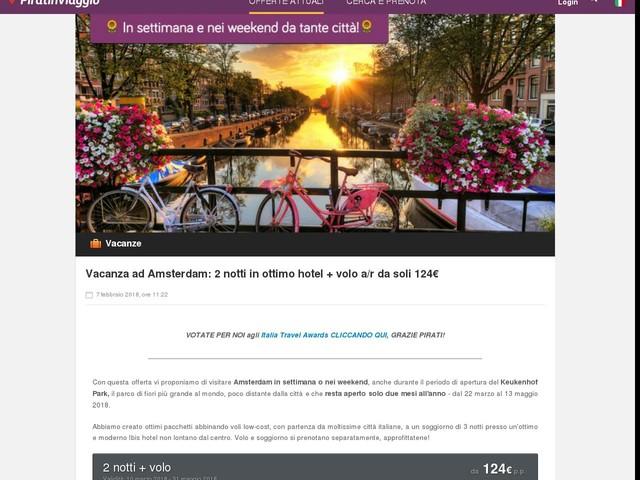 Vacanza ad Amsterdam: 2 notti in ottimo hotel + volo a/r da soli 124 ...