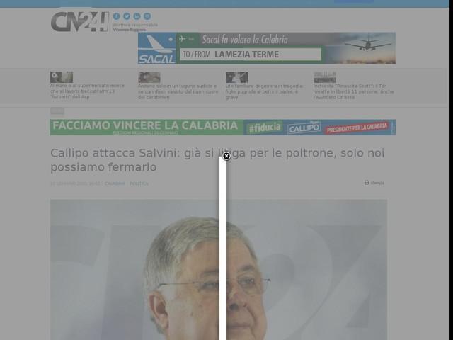 Callipo attacca Salvini: già si litiga per le poltrone, solo noi possiamo fermarlo