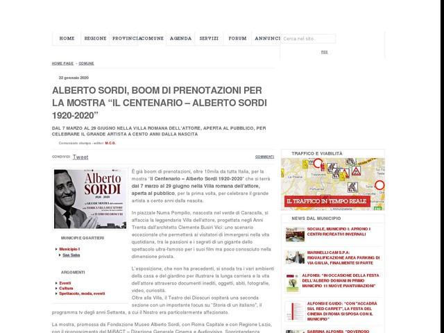 """Alberto Sordi, boom di prenotazioni per la mostra """"Il Centenario – Alberto Sordi 1920-2020"""""""
