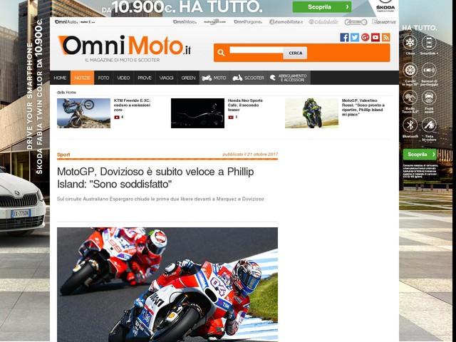"""MotoGP, Dovizioso è subito veloce a Phillip Island: """"Sono soddisfatto"""""""
