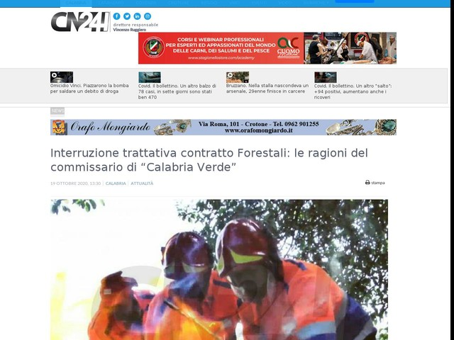 """Interruzione trattativa contratto Forestali: le ragioni del commissario di """"Calabria Verde"""""""
