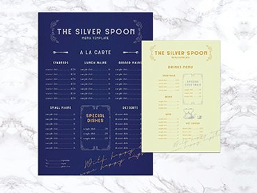 How to Make a Fancy Menu Template