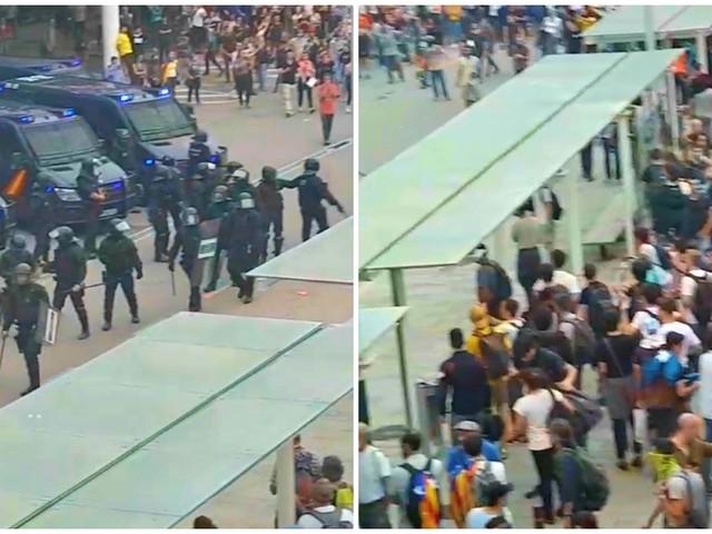 """Barcellona, polizia carica i manifestanti all'aeroporto. """"C'è molta tensione, dimostranti hanno tentato di accedere al terminal"""""""