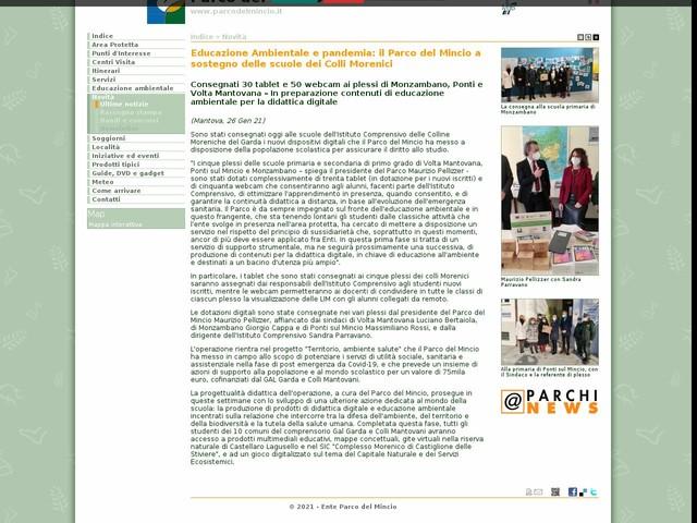 PR Mincio - Educazione Ambientale e pandemia: il Parco del Mincio a sostegno delle scuole dei Colli Morenici