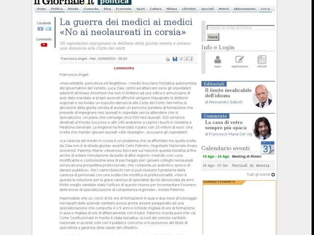 La guerra dei medici ai medici «No ai neolaureati in corsia»