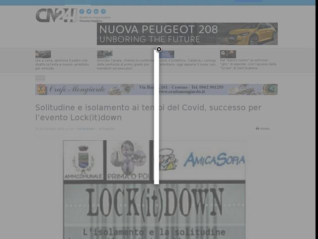 Solitudine e isolamento ai tempi del Covid, successo per l'evento Lock(it)down