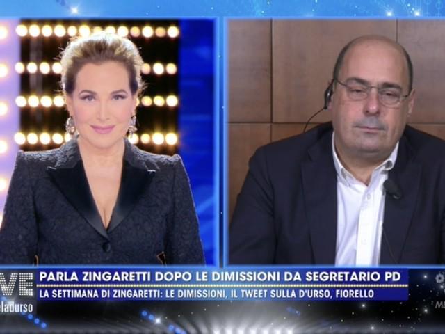 """Zingaretti difende la d'Urso dal Pd: """"Io sono qui, altri nei salotti"""""""