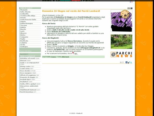 AREA Parchi - Domenica 16 Giugno nel verde dei Parchi Lombardi