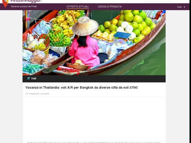 Vacanza in Thailandia: voli A/R per Bangkok da diverse città da soli 375€!