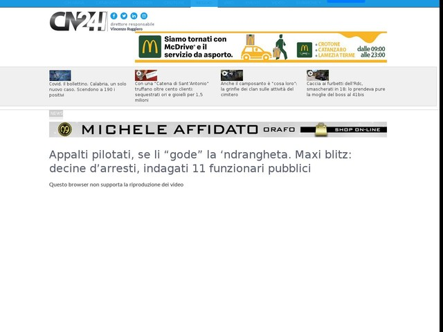 "Appalti pilotati, se li ""gode"" la 'ndrangheta. Maxi blitz: decine d'arresti, indagati 11 funzionari pubblici"