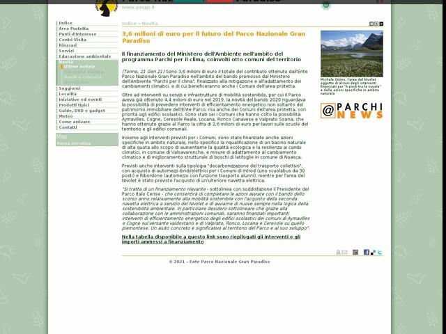 PN Gran Paradiso - 3,6 milioni di euro per il futuro del Parco Nazionale Gran Paradiso