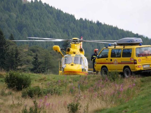 Elicottero e Soccorso Alpino per salvare un escursionista scivolato sotto alle Viote