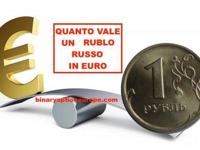 Cambio Rublo Euro tempo reale: Quanto vale un Rublo Russo in Euro