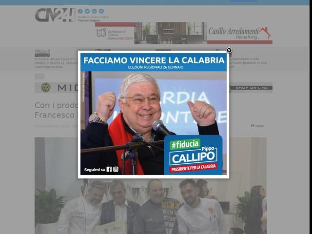 Con i prodotti di Calabria crea il gelato più buono. Francesco Mastroianni premiato dal Sigep