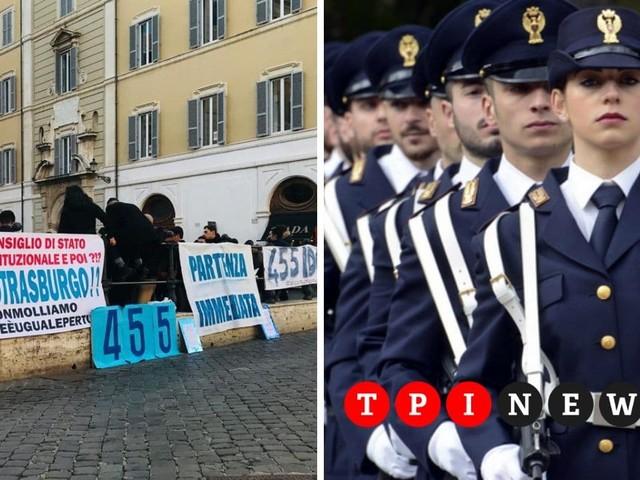 """Polizia, continua la battaglia degli allievi esclusi dal concorso: """"Nessuna elemosina, il nostro è un diritto"""""""