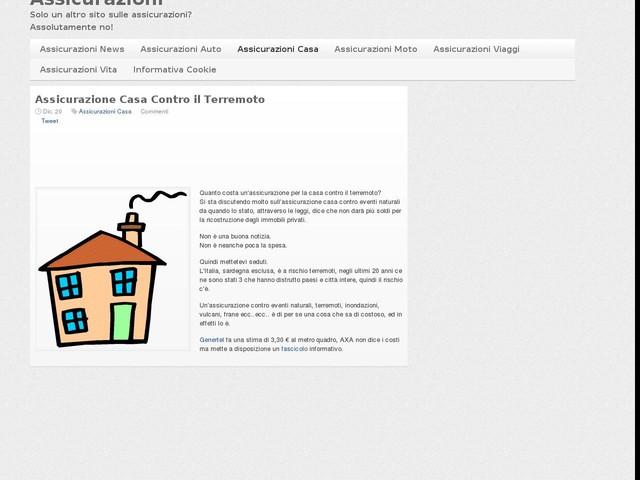 Assicurazione Casa Contro il Terremoto