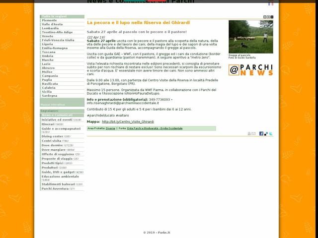 Ente Parchi e Biodiversità - Emilia Occidentale - La pecora e il lupo nella Riserva dei Ghirardi