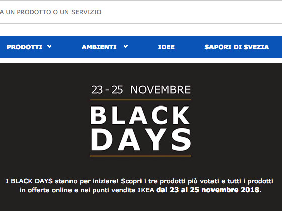 Ikea black friday 2018 black days 23 25 novembre - Black days ikea ...