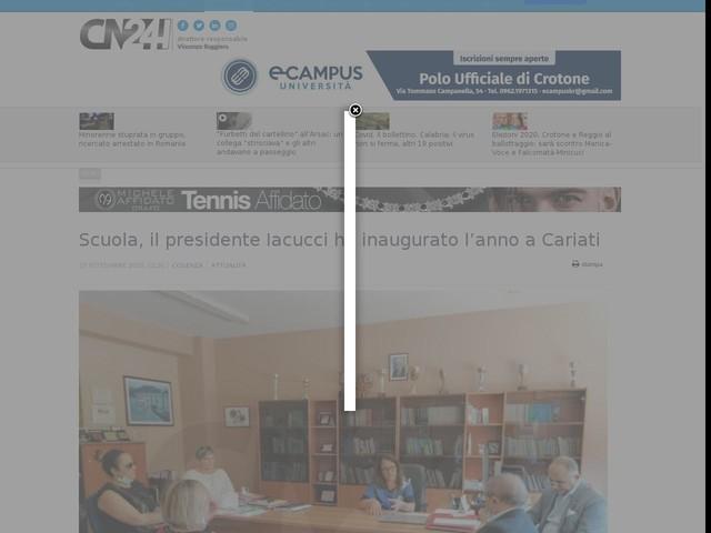 Scuola, il presidente Iacucci ha inaugurato l'anno a Cariati