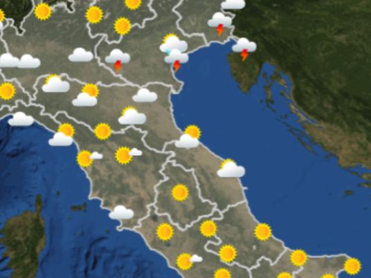 Le previsioni meteo per domani, mercoledì 18 settembre