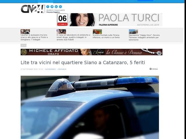 Lite tra vicini nel quartiere Siano a Catanzaro, 5 feriti