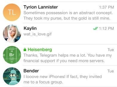 Telegram Messenger si aggiorna alla vers 4.5