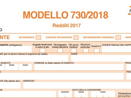 Modello 730 2018 istruzioni e pdf online la nuova for Scadenza presentazione 730 precompilato