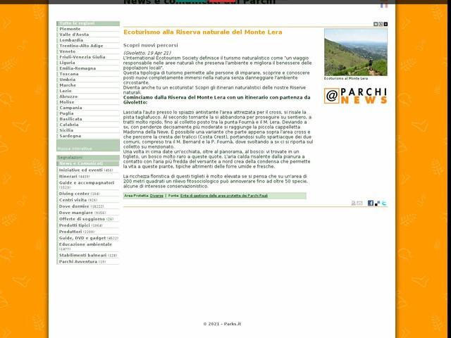 Ente di gestione delle aree protette dei Parchi Reali - Ecoturismo alla Riserva naturale del Monte Lera