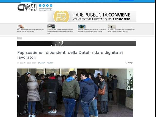 Pap sostiene i dipendenti della Datel: ridare dignità ai lavoratori