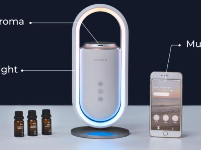 Aromeo: un device che ti rilassa con musica, luci e profumi