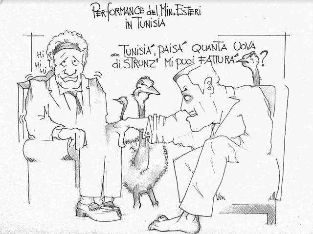 La vignetta del giorno: la performance di Di Maio in Tunisia