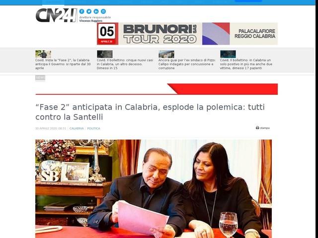 """""""Fase 2"""" anticipata in Calabria, esplode la polemica: tutti contro la Santelli"""