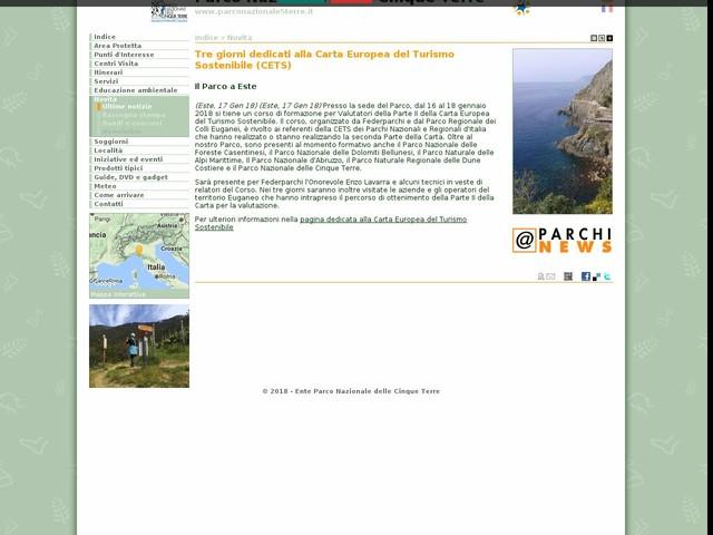 PN Cinque Terre - Tre giorni dedicati alla Carta Europea del Turismo Sostenibile (CETS)