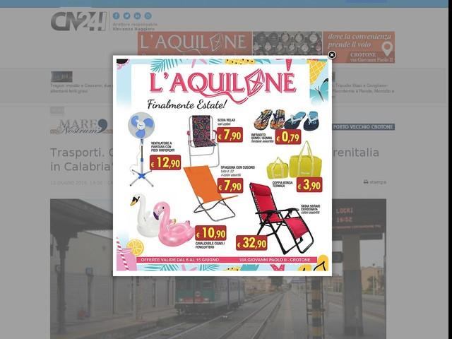 """Trasporti. Galati: """"Il tragicomico orario estivo di Trenitalia in Calabria"""""""