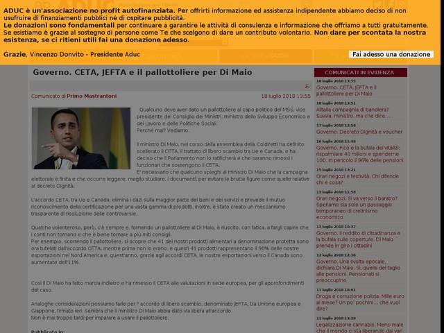 Governo. CETA, JEFTA e il pallottoliere per Di Maio