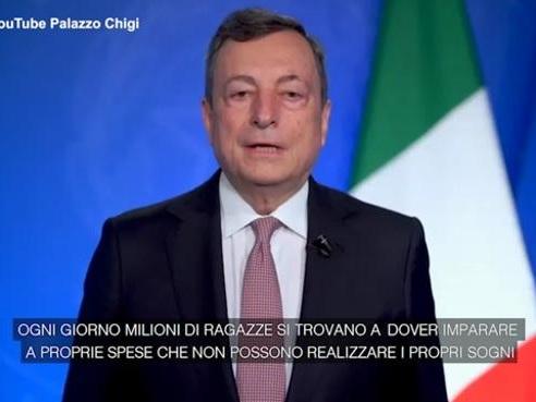 Draghi: «Immorale, ingiusta e miope la discriminazione delle donne»